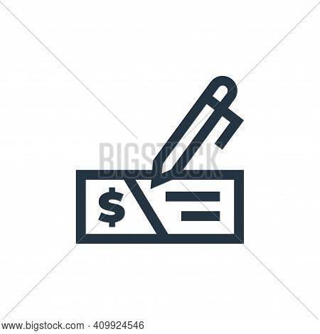 mortgage icon isolated on white background from real estate collection. mortgage icon thin line outl