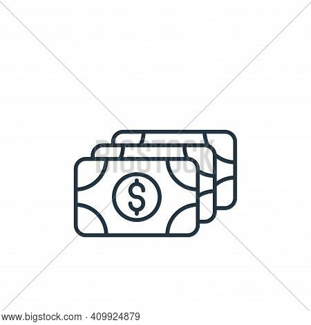 money icon isolated on white background from casino collection. money icon thin line outline linear