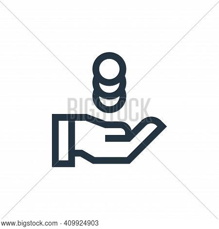 money icon isolated on white background from marketing and growth collection. money icon thin line o