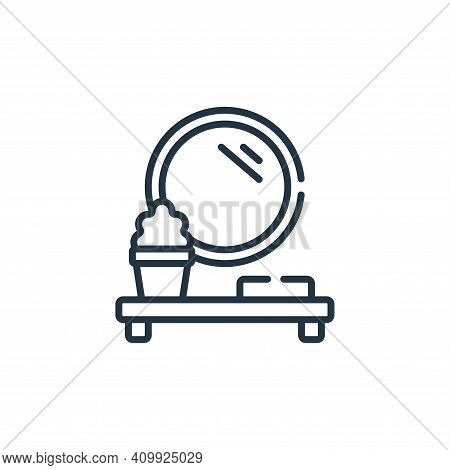 mirror icon isolated on white background from bathroom collection. mirror icon thin line outline lin