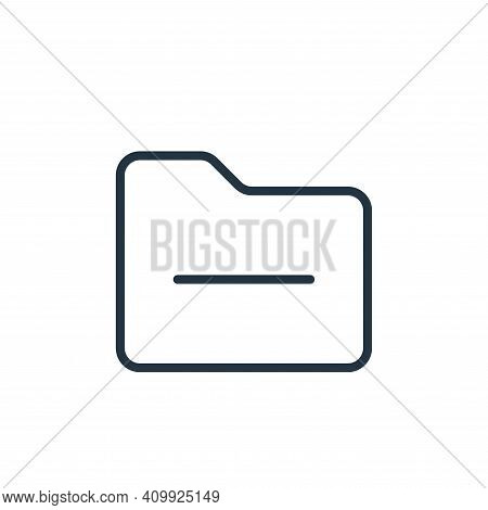 minus icon isolated on white background from folder collection. minus icon thin line outline linear