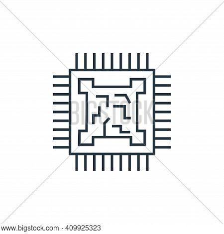 microprocessor icon isolated on white background from technology devices collection. microprocessor