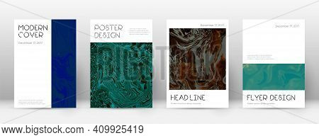 Abstract Cover. Powerful Design Template. Suminagashi Marble Minimal Poster. Powerful Trendy Abstrac
