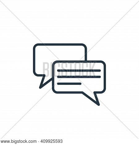 messages icon isolated on white background from communication collection. messages icon thin line ou