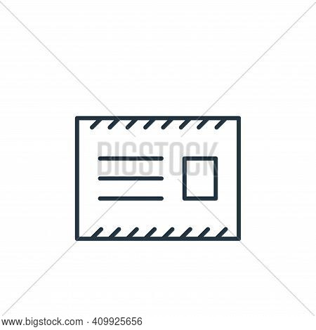 message icon isolated on white background from stationery collection. message icon thin line outline