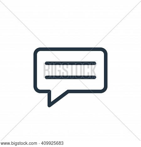 message icon isolated on white background from technology collection. message icon thin line outline