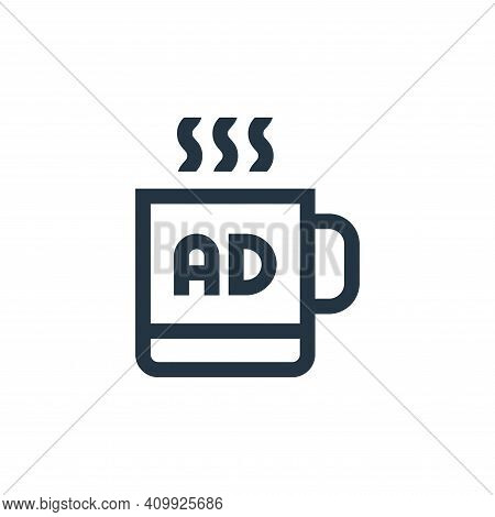 merchandising icon isolated on white background from advertisement collection. merchandising icon th