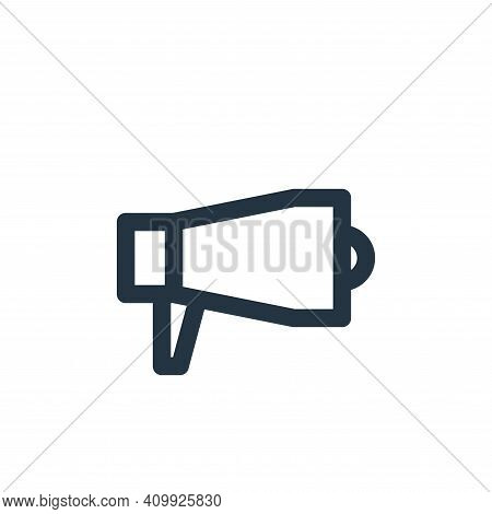megaphone icon isolated on white background from multimedia collection. megaphone icon thin line out