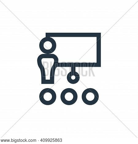 meeting icon isolated on white background from management collection. meeting icon thin line outline