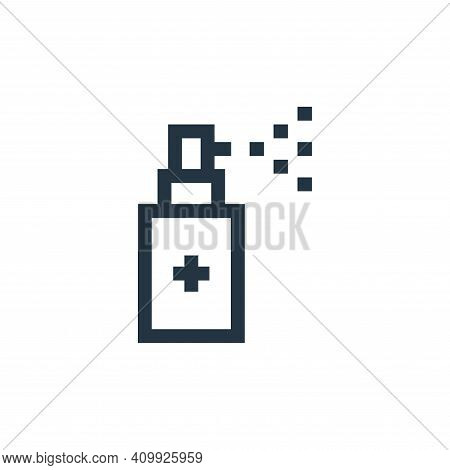 medicine icon isolated on white background from soccer collection. medicine icon thin line outline l