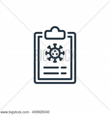 medical report icon isolated on white background from coronavirus collection. medical report icon th