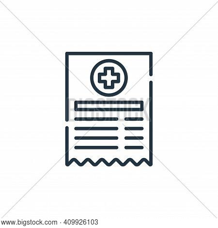 medical prescription icon isolated on white background from allergies collection. medical prescripti