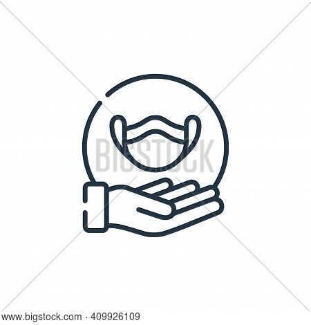 medical mask icon isolated on white background from kindness collection. medical mask icon thin line