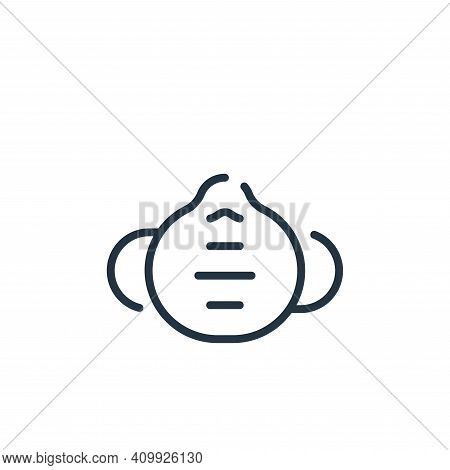medical mask icon isolated on white background from virus transmission collection. medical mask icon