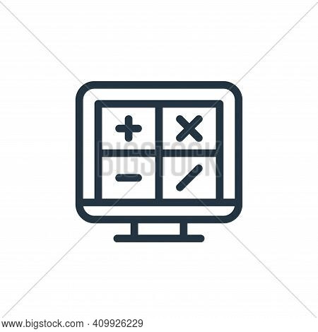 maths icon isolated on white background from online learning collection. maths icon thin line outlin
