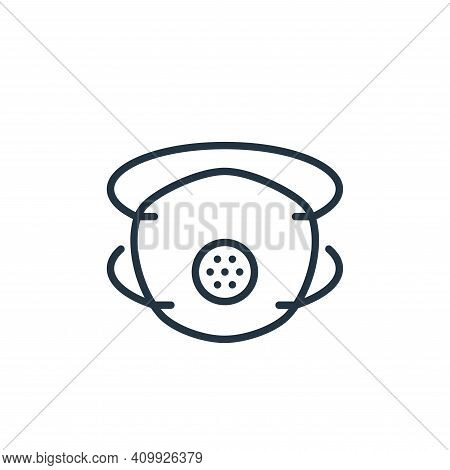 mask icon isolated on white background from stop virus collection. mask icon thin line outline linea
