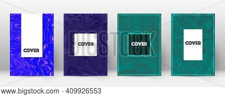 Abstract Cover. Interesting Design Template. Suminagashi Marble Hipster Poster. Interesting Trendy A