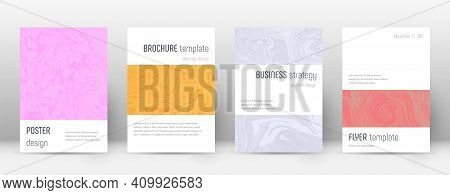 Abstract Cover. Cool Design Template. Suminagashi Marble Minimalistic Poster. Cool Trendy Abstract C