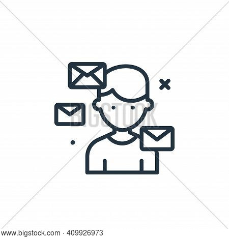 mails icon isolated on white background from work from home collection. mails icon thin line outline