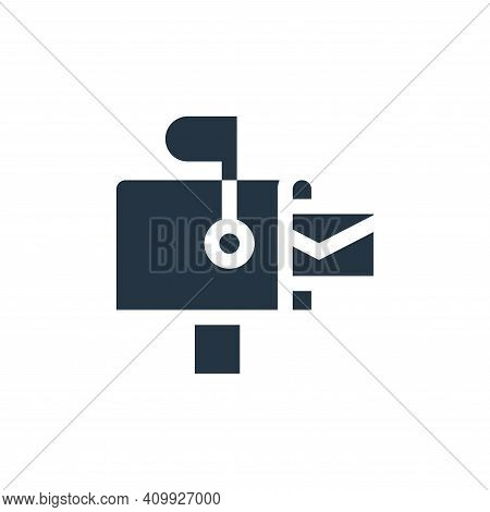Mailbox Vector Icon From Advertisement Collection Isolated On White Background