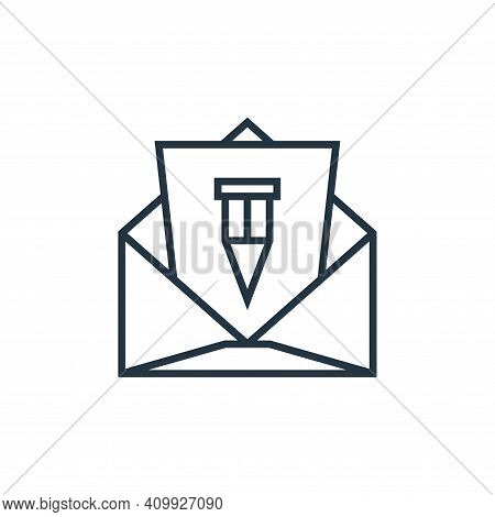mail icon isolated on white background from school collection. mail icon thin line outline linear ma