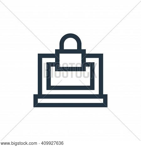 lock icon isolated on white background from insurance collection. lock icon thin line outline linear