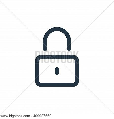 lock icon isolated on white background from user interface collection. lock icon thin line outline l