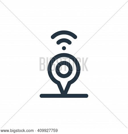 location icon isolated on white background from internet of things collection. location icon thin li