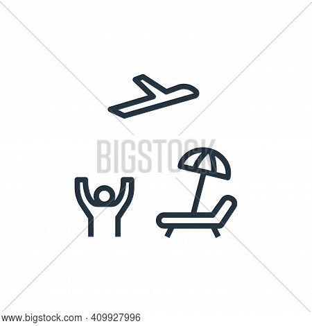 leisure icon isolated on white background from work life balance collection. leisure icon thin line