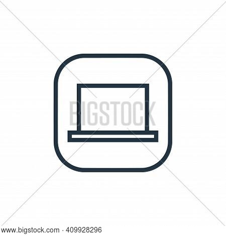 laptop icon isolated on white background from hardware and gadgets collection. laptop icon thin line