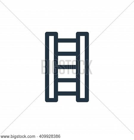ladder icon isolated on white background from emergencies collection. ladder icon thin line outline