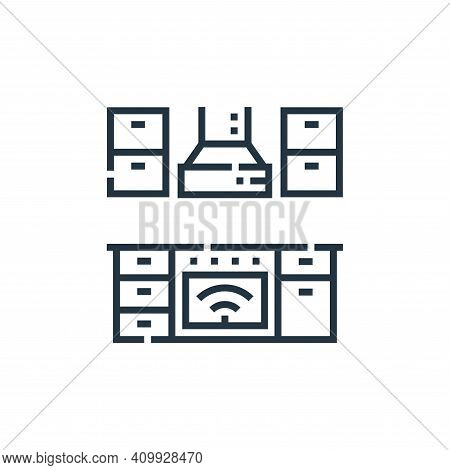 kitchen icon isolated on white background from smarthome collection. kitchen icon thin line outline
