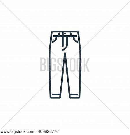 jeans icon isolated on white background from clothes and outfit collection. jeans icon thin line out