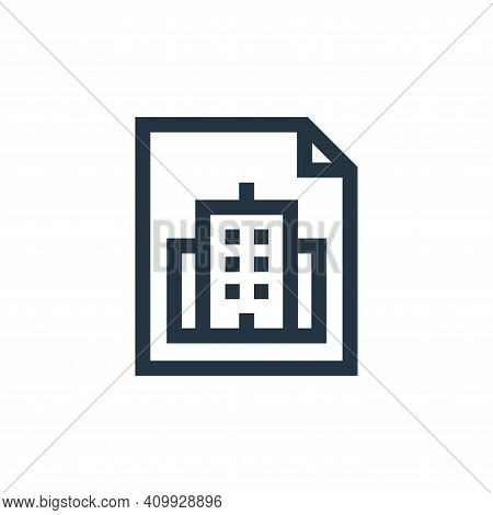invoice icon isolated on white background from real estate collection. invoice icon thin line outlin