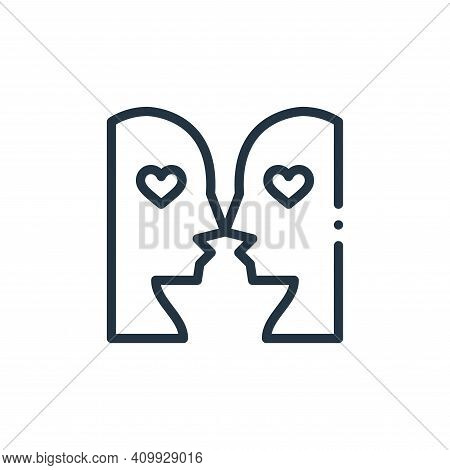 in love icon isolated on white background from world love collection. in love icon thin line outline