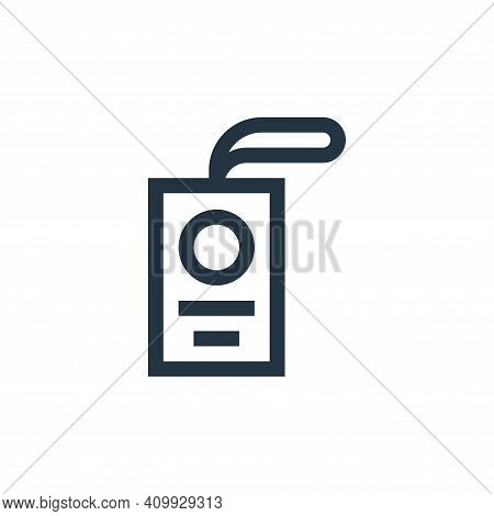 id card icon isolated on white background from job resume collection. id card icon thin line outline
