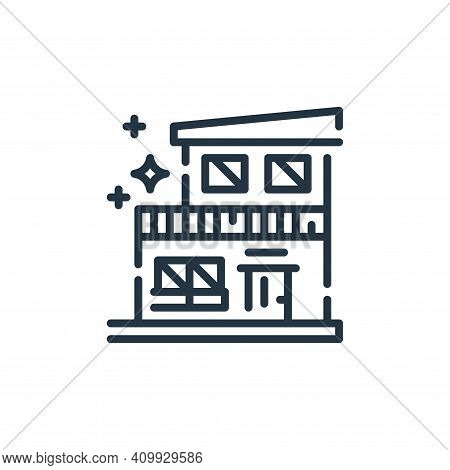 house icon isolated on white background from cleaning collection. house icon thin line outline linea
