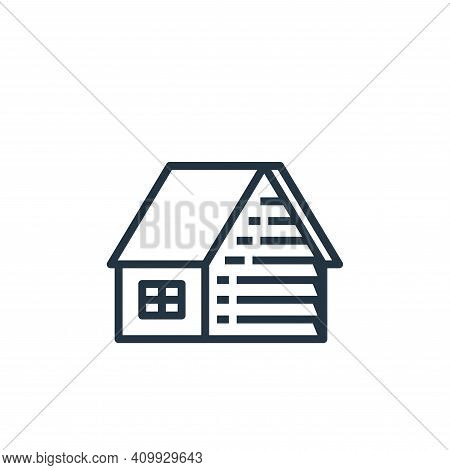 house icon isolated on white background from recycling collection. house icon thin line outline line