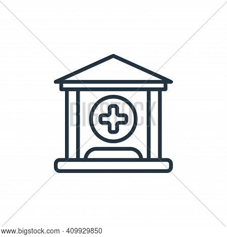 hospital icon isolated on white background from covid collection. hospital icon thin line outline li
