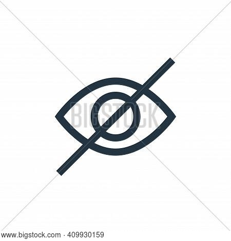 hidden icon isolated on white background from text editor collection. hidden icon thin line outline