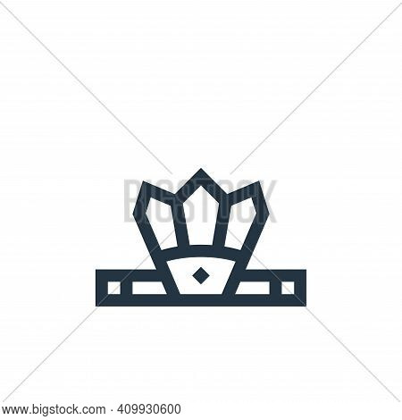 headband icon isolated on white background from history collection. headband icon thin line outline