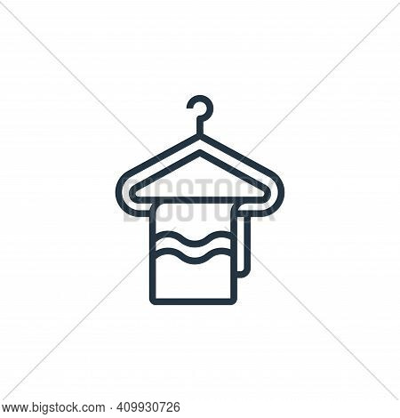 hanger icon isolated on white background from laundry collection. hanger icon thin line outline line