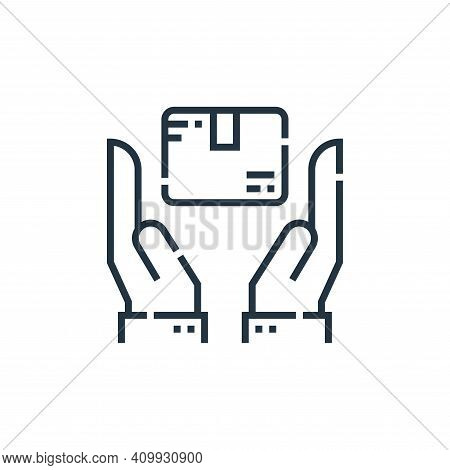 hands icon isolated on white background from delivery collection. hands icon thin line outline linea