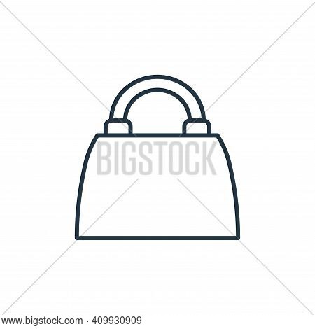 handbag icon isolated on white background from accessory collection. handbag icon thin line outline