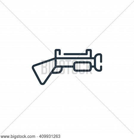 gun icon isolated on white background from children toys collection. gun icon thin line outline line