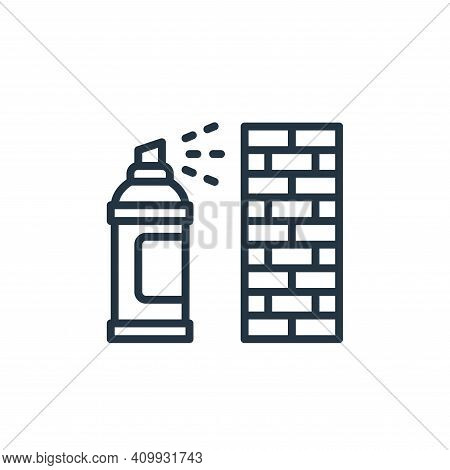 graffiti icon isolated on white background from graphic design collection. graffiti icon thin line o