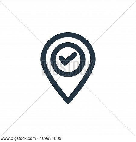 gps navigation icon isolated on white background from holiday collection. gps navigation icon thin l