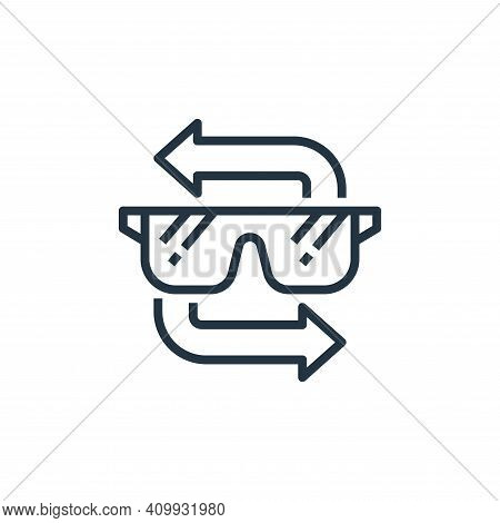 goggle icon isolated on white background from recycling collection. goggle icon thin line outline li