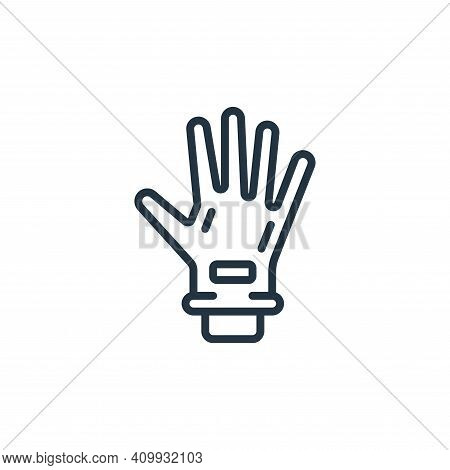 glove icon isolated on white background from hygiene collection. glove icon thin line outline linear
