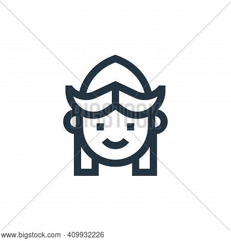 girl icon isolated on white background from holland collection. girl icon thin line outline linear g